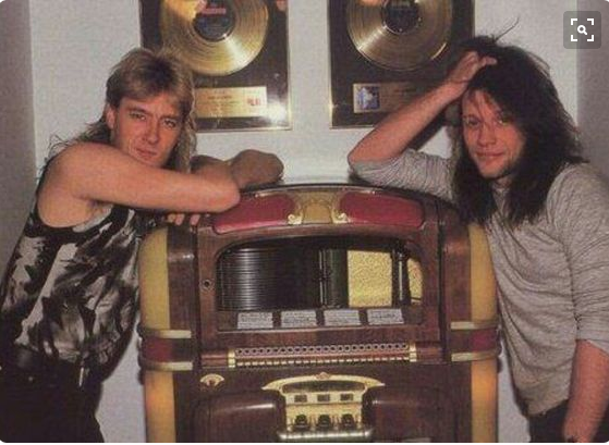 Joe Elliott & Jon Bon Jovi 1988