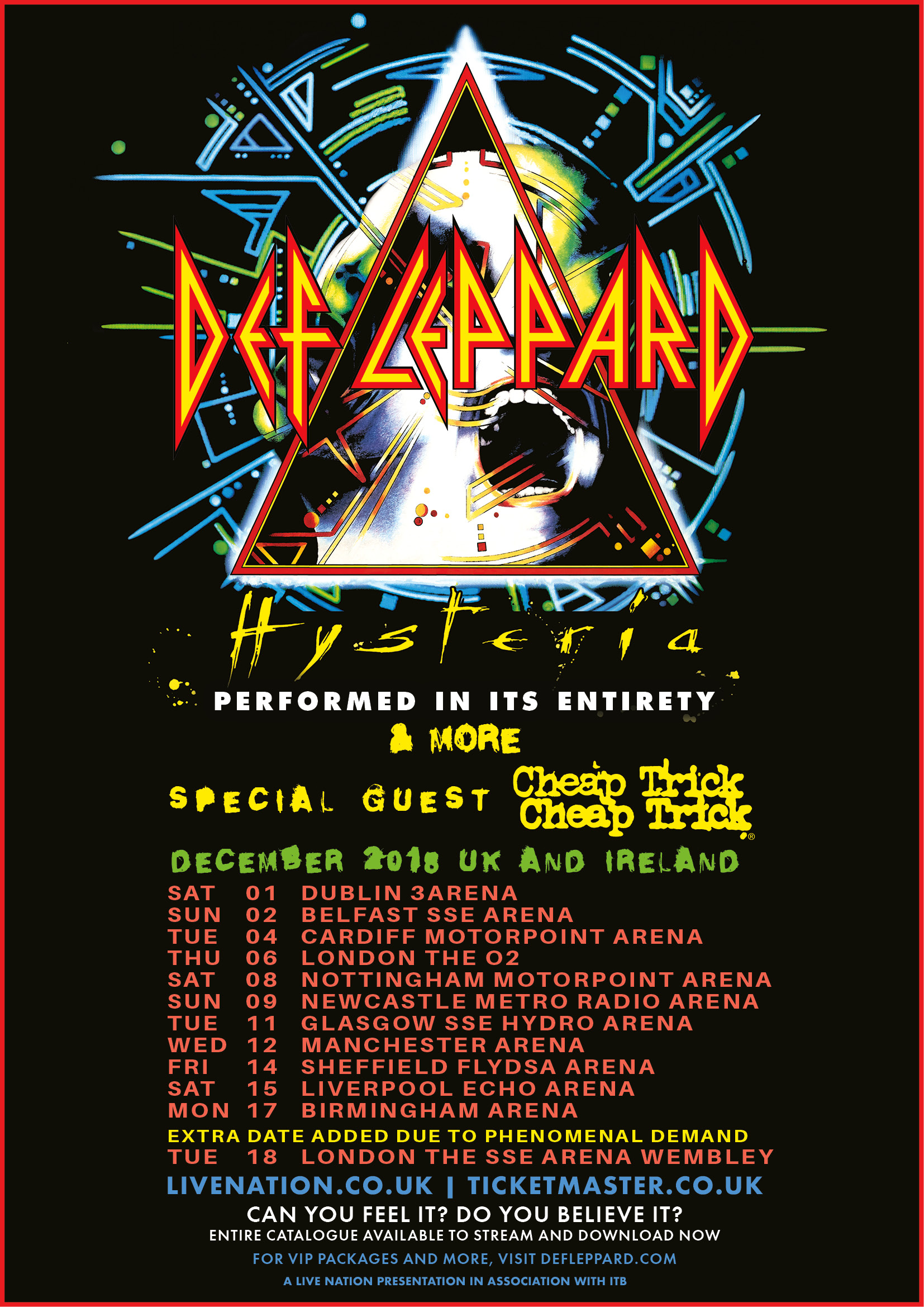 Nd London Show Added To The Hysteria Tour